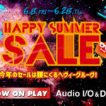 [DTMスクールニュース]Happy Summer SALEをRockoNが開催!