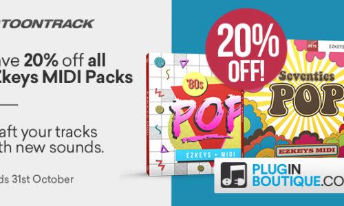 [DTMスクールニュース]toontrack-midi-pack-sale