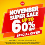 [DTMスクールニュース]EastWestが「NOVEMBER SUPER SALE」を開催中!