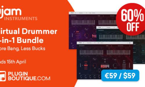 [DTMニュース]ujam-virtual-drummer-bundle-sale-2019
