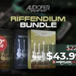 [DTMニュース]Audiofierの20GB以上の大容量ギターサンプルライブラリ「RIFFENDIUM BUNDLE」が80%offのセール価格で登場!