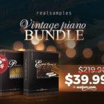 [DTMニュース]REALSAMPLESのピアノ音源ライブラリー「VINTAGE PIANO BUNDLE」が83%offのスペシャル価格で登場!