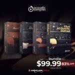 [DTMニュース]AcousticSamplesの4種のギターバンドル「4-in-1 Guitar Bundle」が83%off!