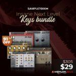 [DTMニュース]Sampletekkの5つのピアノバンドル「Insane Next Level Keys Bundle」が91%off!