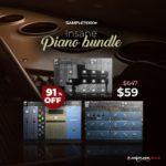 [DTMニュース]Sampletekkの3つの人気のあるピアノライブラリ「Insane Piano Bundle」が91%off!